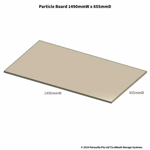 1490W x 855D Particle Board Shelf