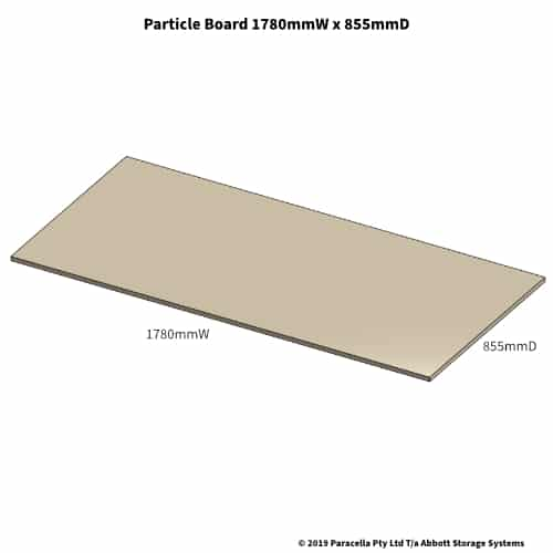 1790W x 855D Particle Board Shelf