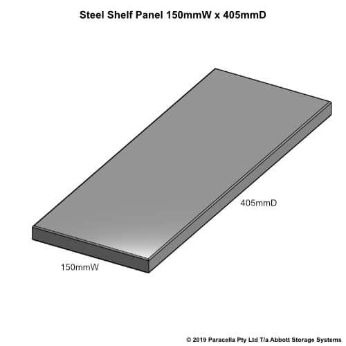 Steel Shelf Panel 450D x 150W