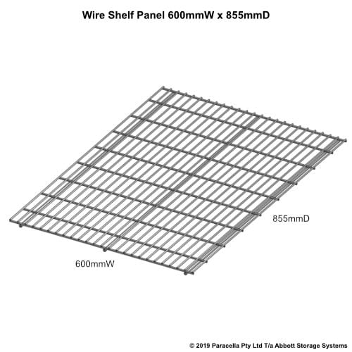 Wire Shelf Panel 900D x 600W