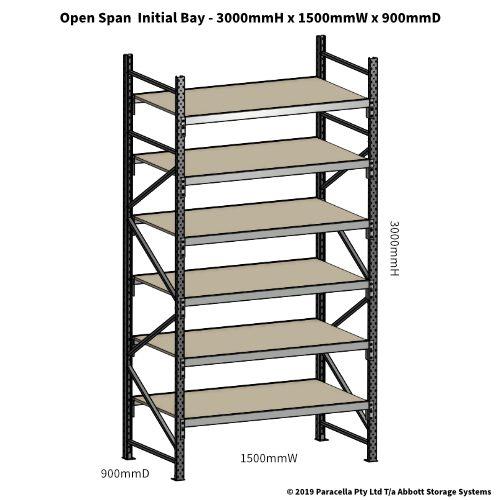 Open Span OS42102 3000Hx1500Wx900D Initial Bay
