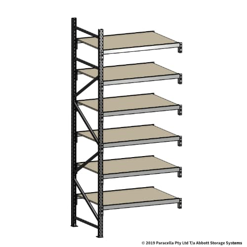 Open Span OS42100 3000H 1200W 900D Particle Board Add-On Bays