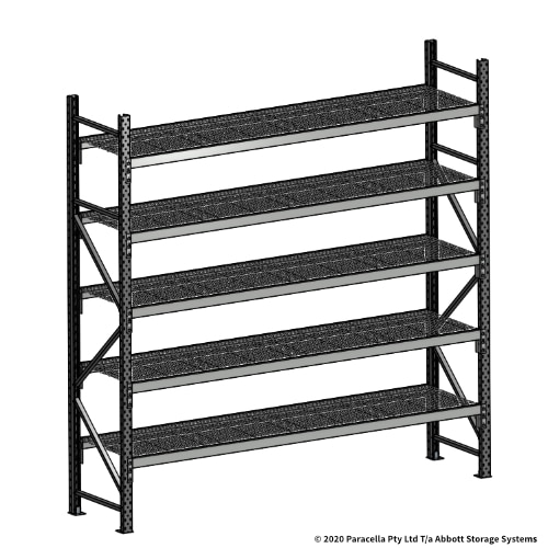 2500H 2400W 600D Wire Shelf Panels Initial