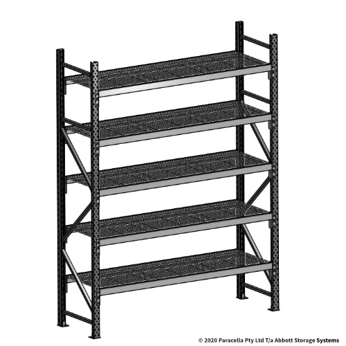 2500H 1800W 600D Wire Shelf Panels Initial