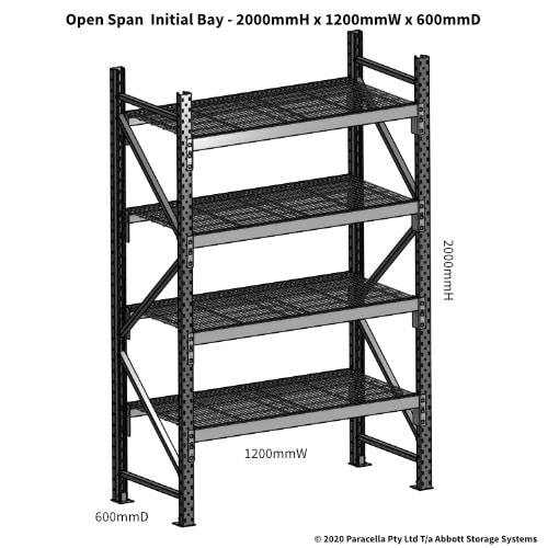Open Span OS44790 2000Hx1200Wx600D Initial Bay