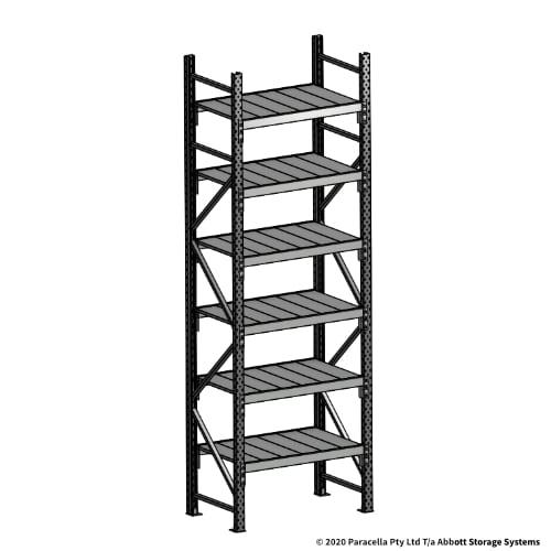 3000H 900W 600D Steel Shelf Panels Initial