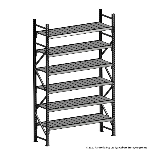 3000H 1800W 600D Steel Shelf Panels Initial