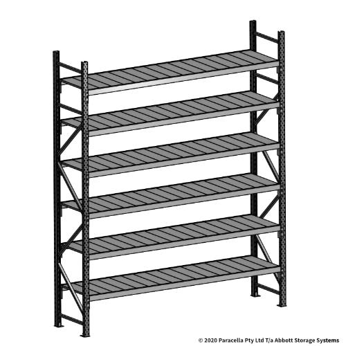3000H 2400W 600D Steel Shelf Panels Initial