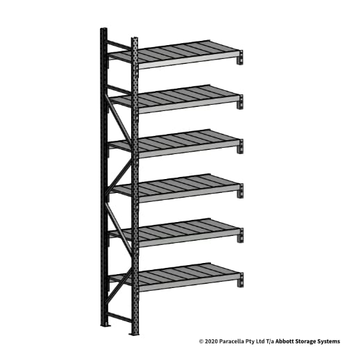 3000H 1200W 600D Steel Shelf Panels Add-On