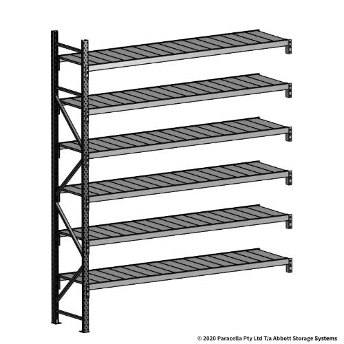 3000H 2400W 600D Steel Shelf Panels Add-On