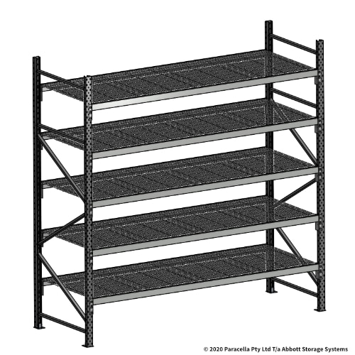 Open Span OS44069 2500H 2400W 900D Wire Shelf Panels Initial Bay
