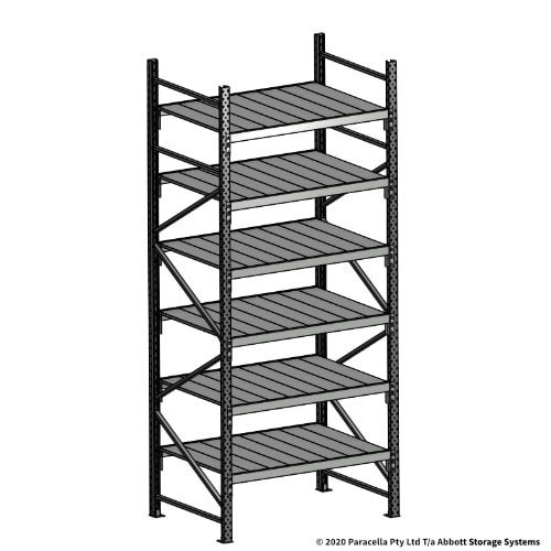 Open Span OS43090 3000H 1200W 900D Steel Shelf Panels Initial Bay