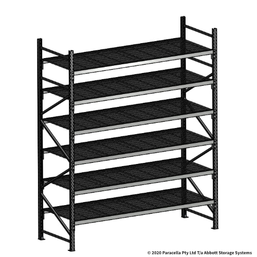 Open Span OS44951 3000H 2400W 900D Wire Shelf Panels Initial Bay