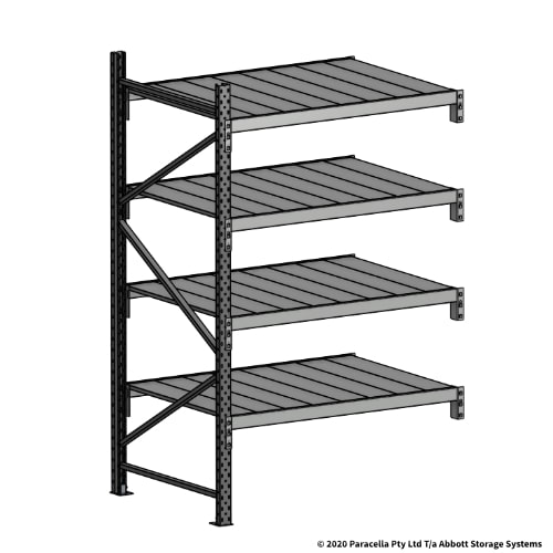 Open Span OS43980 2000H 1200W 900D Steel Shelf Panels Add-On Bay