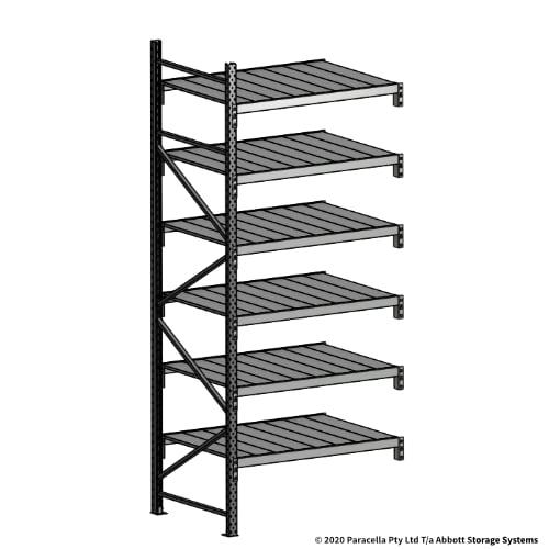 Open Span OS43100 3000H 1200W 900D Steel Shelf Panels Add-On Bay