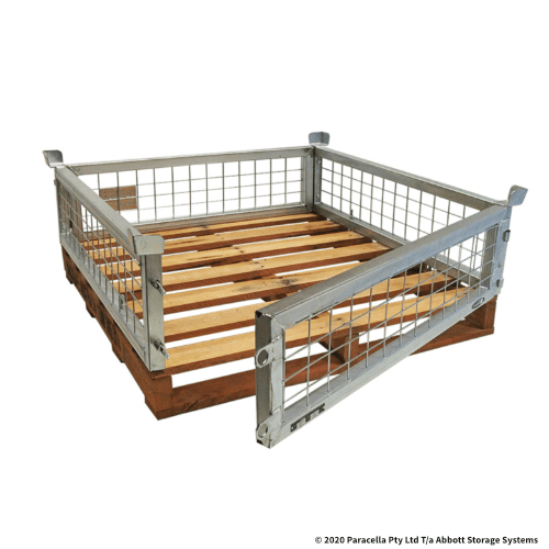 PS73100 Bolt on Cage 300H with Hardwood Pallet