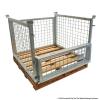 825H Bolt On Pallet Cage with Hardwood Pallet