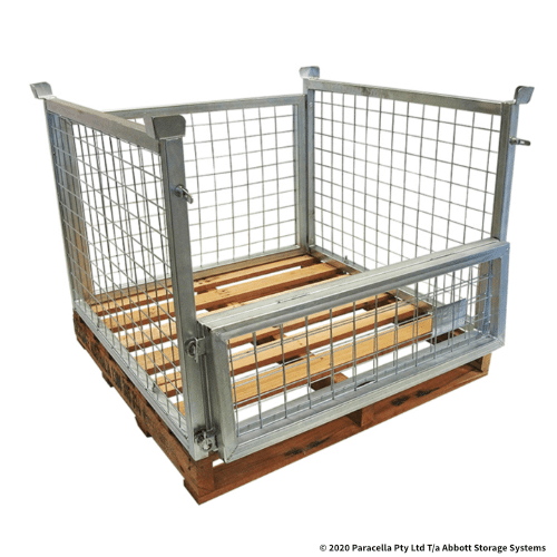 PS73102 Bolt on Cage 825H with Hardwood Pallet