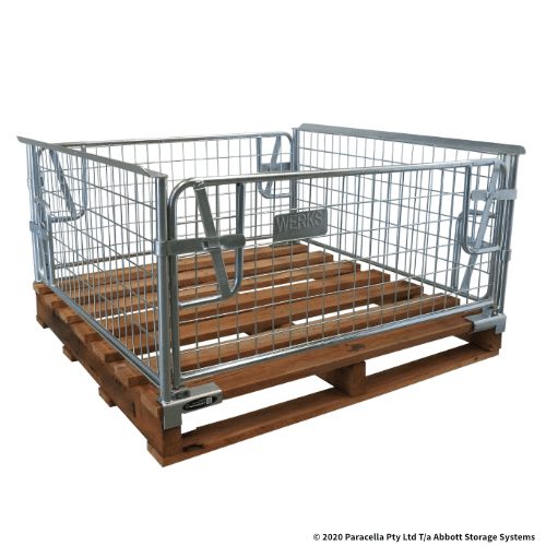 PS73201 Clamp on Cage 500H with Hardwood Pallet