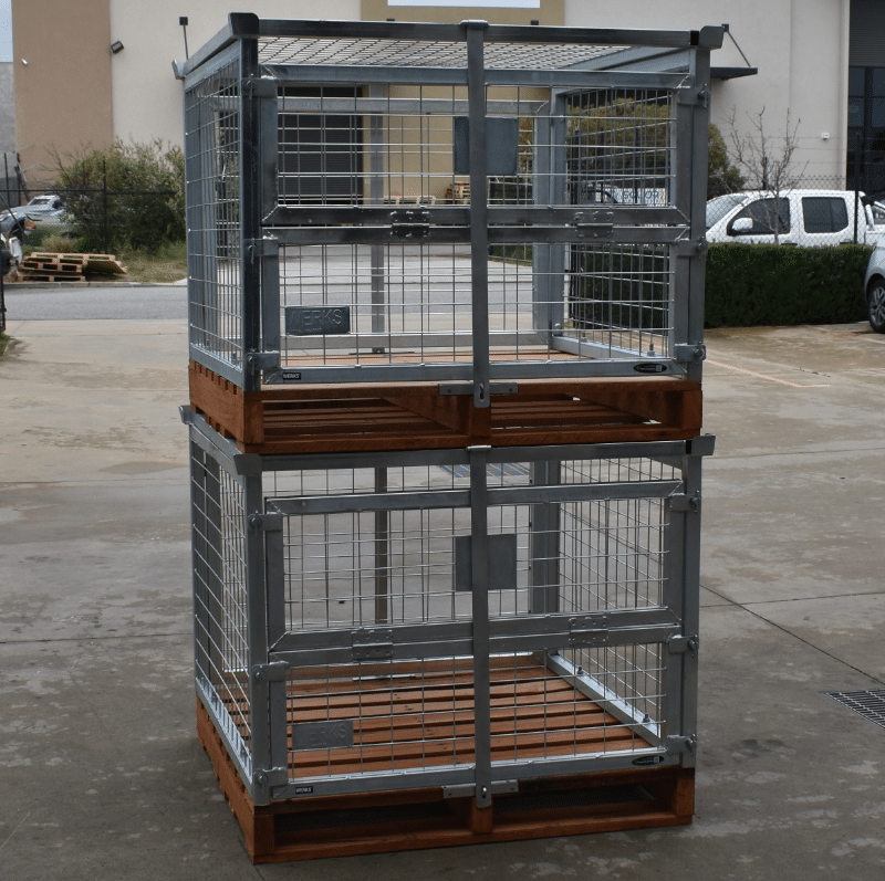Pallet Cage Benefits - Stacked Pallet Cages