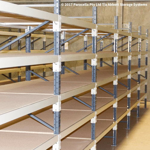 Open Span Shelving Systems - Particle Board Shelves
