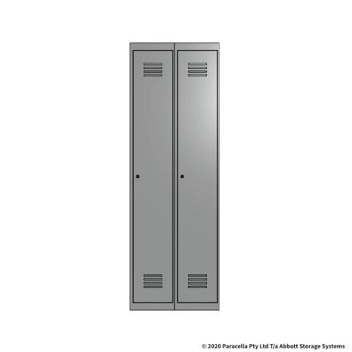 Grey 1 Door Locker 1800H x 300W x 450D Bank of 2