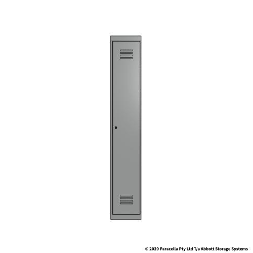 Grey 1 Door Locker 1800H x 300W x 450D Single