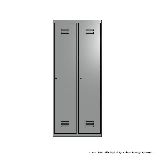 Grey 1 Door Locker 1800H x 375W x 450D Bank of 2