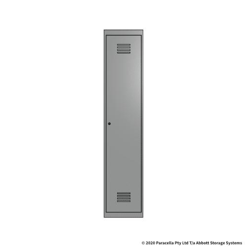 Grey 1 Door Locker 1800H x 375W x 450D Single