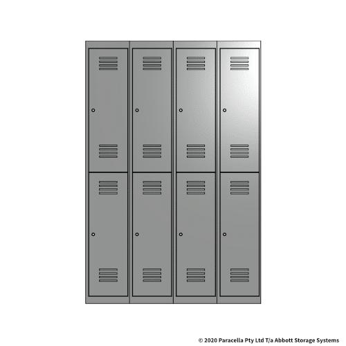 Grey 2 Door Locker 1800H x 1200W x 450D Bank of 4