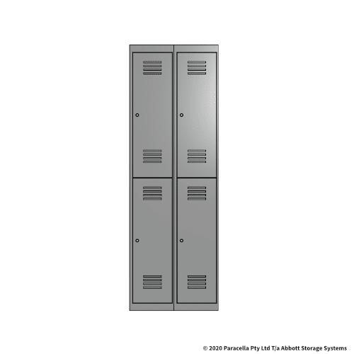 Grey 2 Door Locker 1800H x 300W x 450D Bank of 2