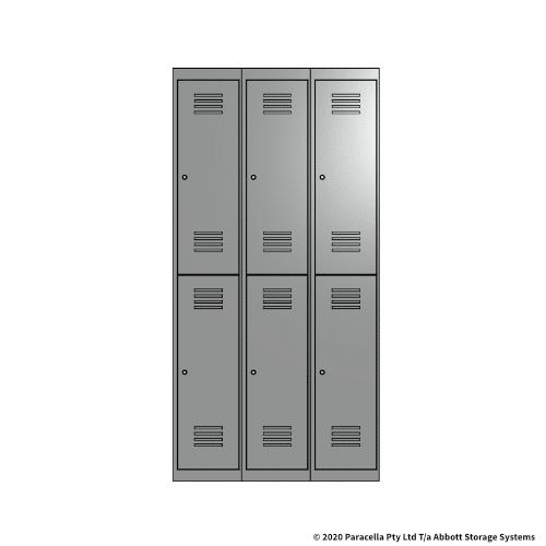 Grey 2 Door Locker 1800H x 300W x 450D Bank of 3