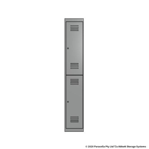 Grey 2 Door Locker 1800H x 300W x 450D Single