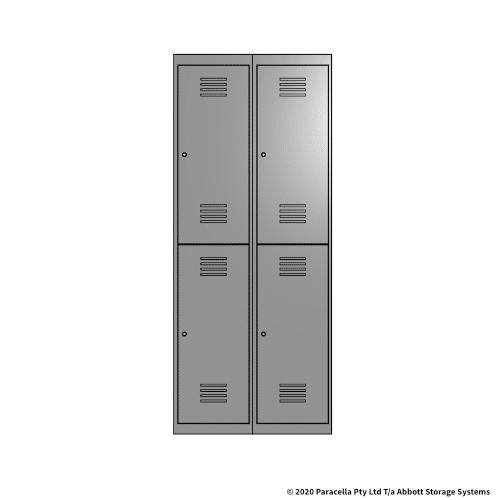 Grey 2 Door Locker 1800H x 375W x 450D Bank of 2