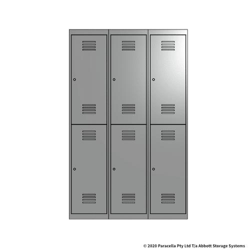 Grey 2 Door Locker 1800H x 375W x 450D Bank of 3
