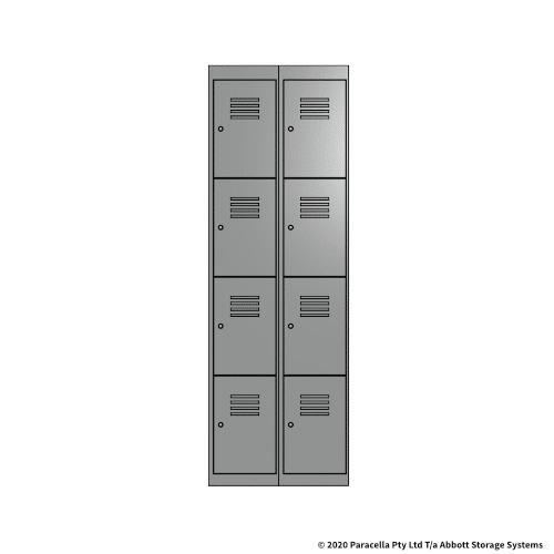 Grey 4 Door Locker 1800H x 300W x 450D Bank of 2