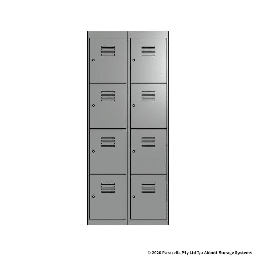 Grey 4 Door Locker 1800H x 375W x 450D Bank of 2