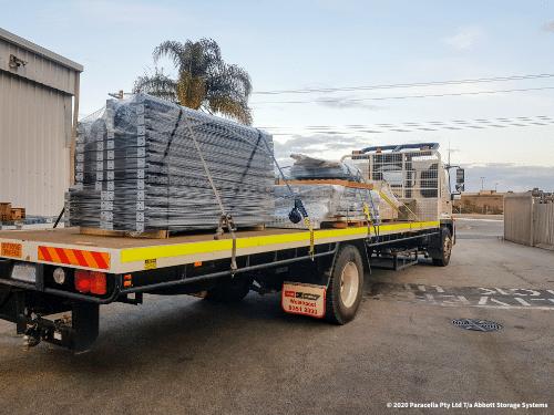 Loaded Truck - Steel Shelving