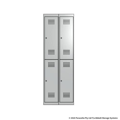 White 2 Door Locker 1800H x 300W x 450D Bank of 2