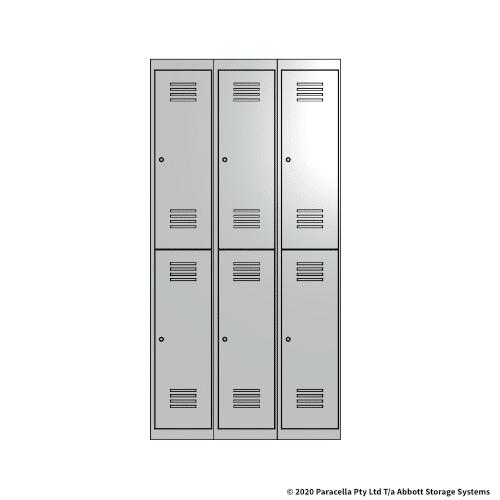 White 2 Door Locker 1800H x 300W x 450D Bank of 3