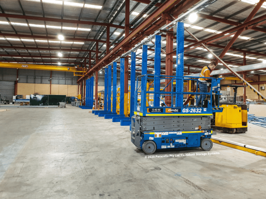 News - Backbone Steel Cantilever Racking Installation