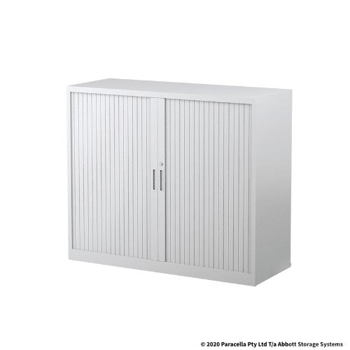 Tambour Door Cabinet 1020H x 1200W x 500DWhite