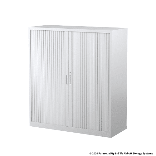 Tambour Door Cabinet 1340H x 1200W x 500DWhite CB2639PW