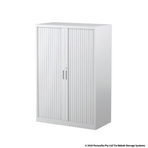 Tambour Door Cabinet 1340H x 900W x 500DWhite
