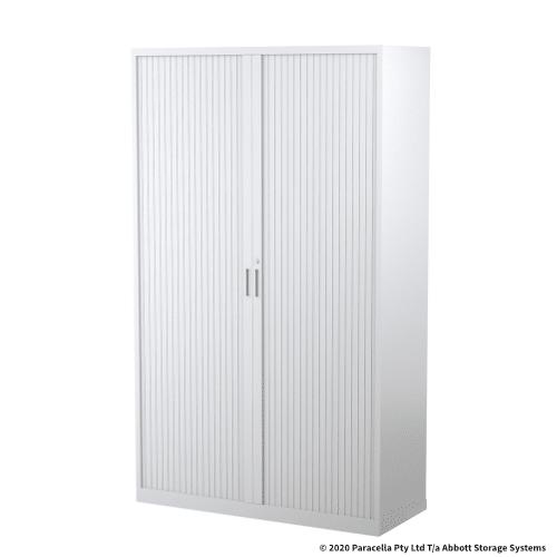Tambour Door Cabinet 1980H x 1200W x 500D White CB2641PW