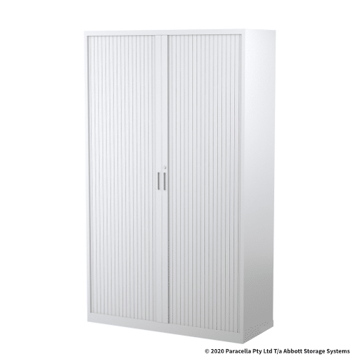 Tambour Door Cabinet 1980H x 1200W x 500D White CB2641PW