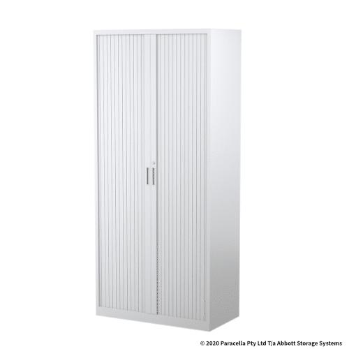 Tambour Door Cabinet 1980H x 900W x 500D White