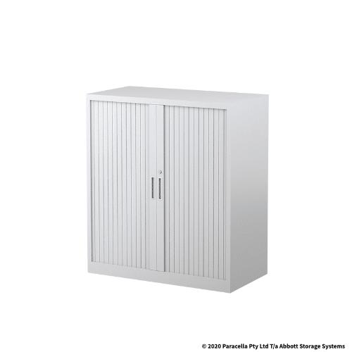 Tambour Door Cabinet 1020H x 900W x 500DWhite