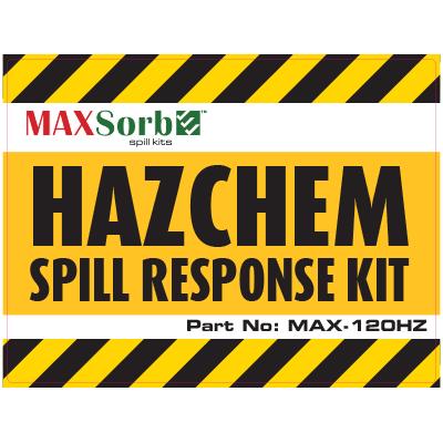 Hazchem Spill Kit Label 120L - WS03300L