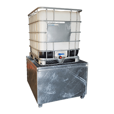 MH30000 - Single IBC Bunded Metal Pallet Example